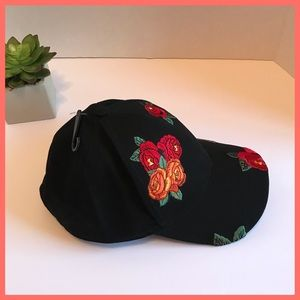 🌹Free Press Flower Embroidered Hat from Nordstrom